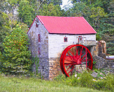 Old Mill Of Guilford Painted Art Print by Sandi OReilly
