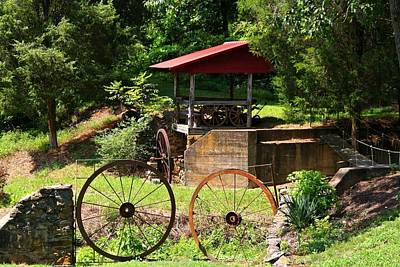 Old Mill Of Guilford Setting Art Print by Kathryn Meyer