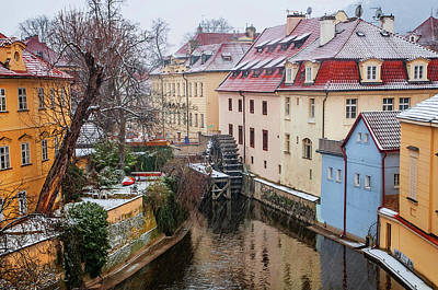 Photograph - Old Mill. Prague March Snowfall by Jenny Rainbow