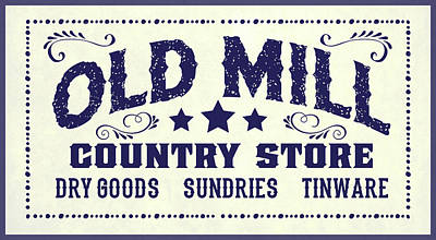Painting - Old Mill Sign by Gary Grayson
