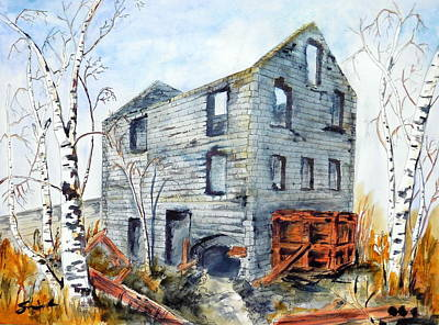 Wall Art - Painting - Old Mill by Sonia Mocnik