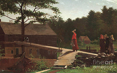 Old Mill, The Morning Bell, 1871 Art Print
