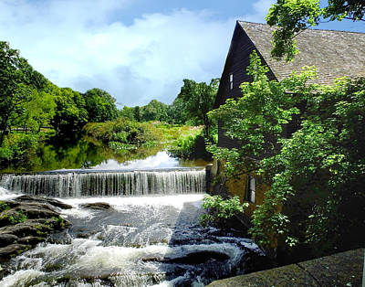 Photograph - Old Mill Waterfalls by Terry Shoemaker