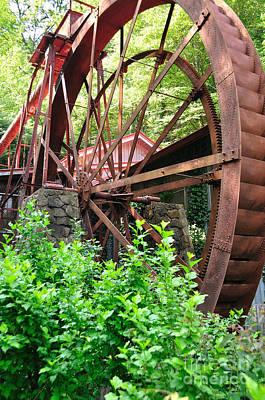 Grist Photograph - Old Mill Waterwheel Gears by Wayne Nielsen