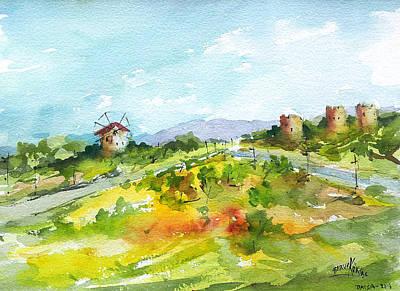 Painting - Old Mills... by Faruk Koksal