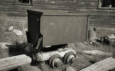 Old Mining Cart Art Print