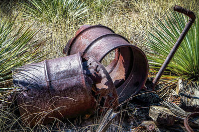 Photograph - Old Mining Parts by Elaine Malott