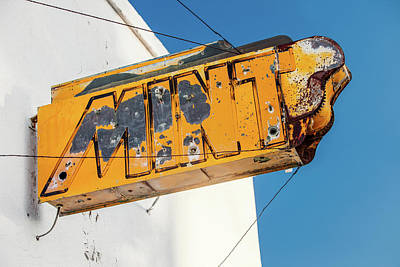 Aged Look Photograph - Old Mint Sign by Todd Klassy