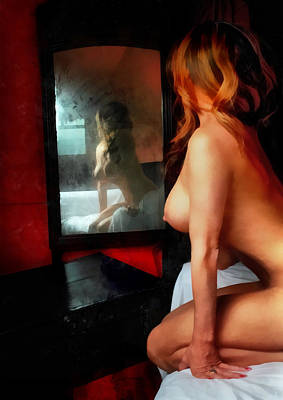 Breast Painting - Old Mirror by Naman Imagery