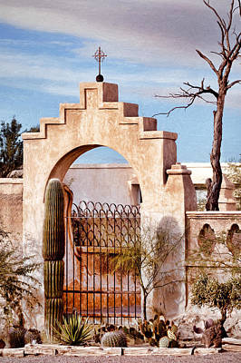 Photograph - Old Mission Arch by Susan Rissi Tregoning