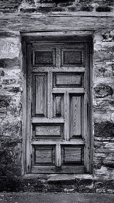 Stone Buildings Photograph - Old Mission San Jose Door by Stephen Stookey