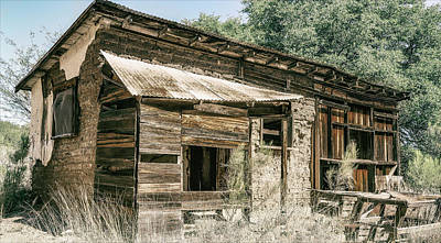 Photograph - Old Montana Camp  by Elaine Malott