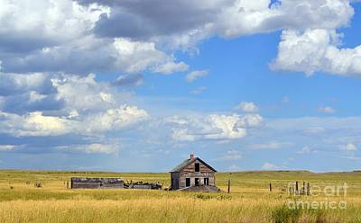 Photograph - Old Montana Homestead by Chalet Roome-Rigdon