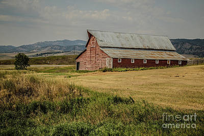 Photograph - Old Montana Ranch by Edward Fielding
