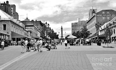 Old Montreal Photograph - Old Montreal Jacques Cartier Square by Reb Frost