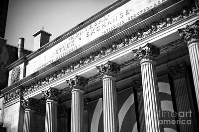 Photograph - Old Montreal Stock Exchange Building by John Rizzuto