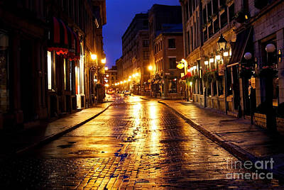 Montreal Street Life Photograph - Old Montreal Street by Denis Tangney Jr