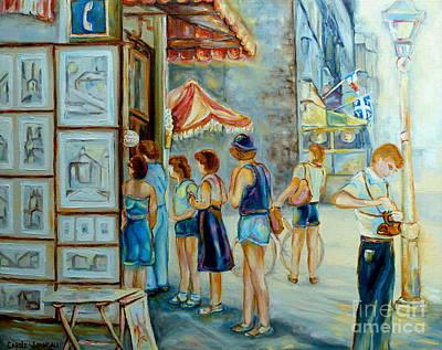 Old Montreal Street Scene Art Print by Carole Spandau