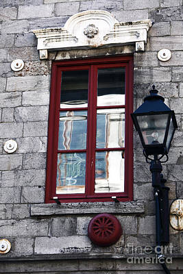 Old Montreal Photograph - Old Montreal Window by John Rizzuto