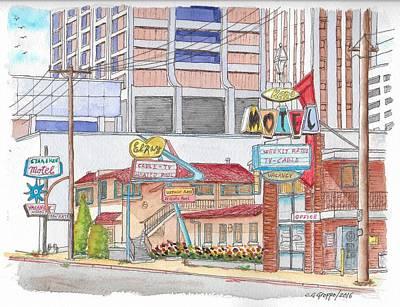 Old Motels In Downtown Reno, Nevada Original by Carlos G Groppa