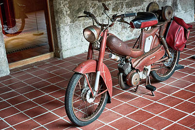 Photograph - Old Motorcycle In The Monastery Of Santo Estevo De Ribas Del Sil by Eduardo Jose Accorinti