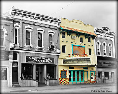 Photograph - Old Movie Theatre-rialto by Kathy M Krause
