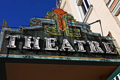 Old Movie Theatre Sign Art Print