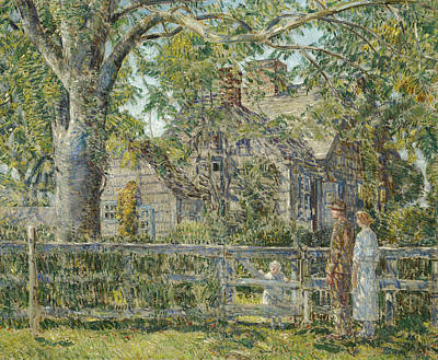 Painting - Old Mulford House, East Hampton by Childe Hassam