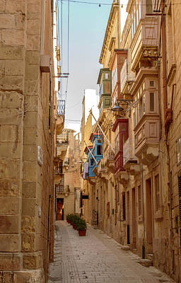 Photograph - Old Narrow Street In Malta A by Jacek Wojnarowski