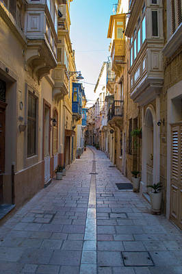 Photograph - Old Narrow Street In Malta C by Jacek Wojnarowski