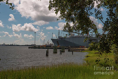 Photograph - Old Navy Base On The Cooper River In Charleston by Dale Powell