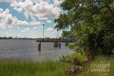 Photograph - Old Navy Base On The Cooper River In North Charleston by Dale Powell