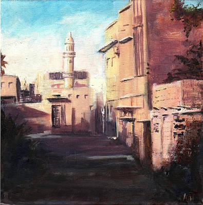 Middle East Painting - Old Neighborhood by Amani Al Hajeri