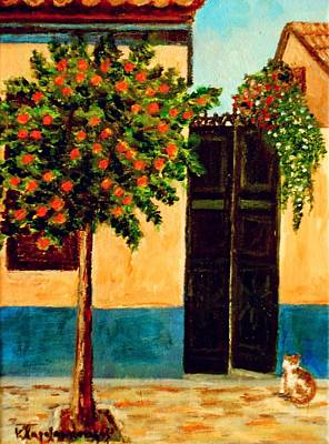 Neighbouring Painting - Old Neighborhood by Constantinos Charalampopoulos