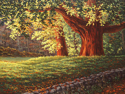 Concord Ma Painting - Old Neighbors, Minuteman National Historic Park, Ma by Elaine Farmer