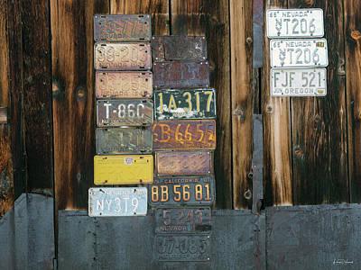 Photograph - Old Nevada Plates by Leland D Howard