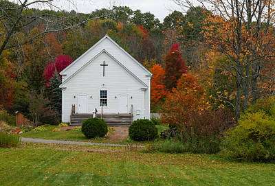 Robert Bellomy Royalty-Free and Rights-Managed Images - Old New England Church by Robert Bellomy