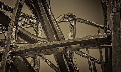 Photograph - Old New England Mill Ruins And Twisted Beams by Phil Cardamone