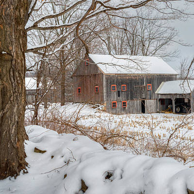 Photograph - Old New England Winter 2016 Square by Bill Wakeley