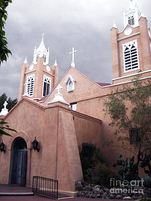 Old New Mexico Church Art Print by Andrea Hazel Ihlefeld