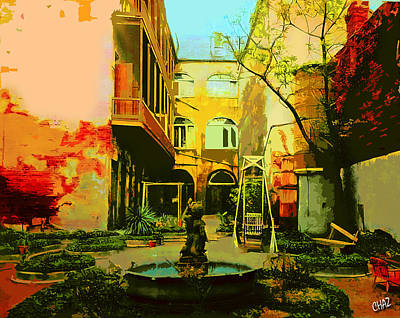 Painting - Old New Orleans French Courtyard by CHAZ Daugherty