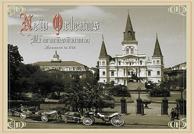Old New Orleans Louisiana - Founded 1718 Art Print