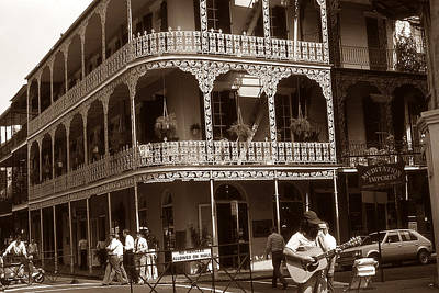 Photograph - Old New Orleans Photo - French Quarter Balconies by Art America Gallery Peter Potter