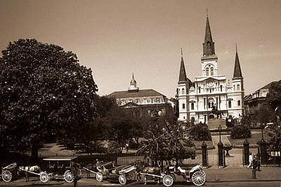 Photograph - Old New Orleans Photo - Saint Louis Cathedral by Art America Gallery Peter Potter