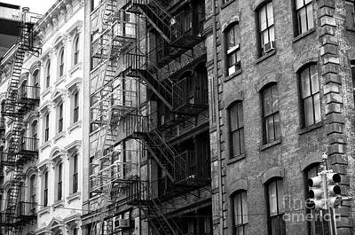 Photograph - Old New York Fire Escape by John Rizzuto
