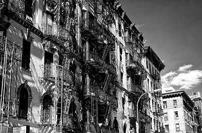 Photograph - Old New York Fire Escapes by John Rizzuto