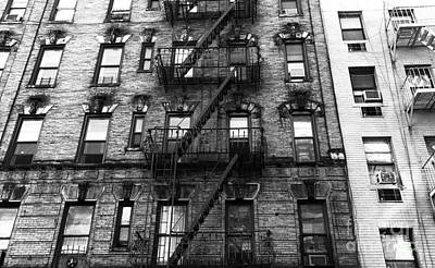 Photograph - Old New York In Chinatown Mono by John Rizzuto
