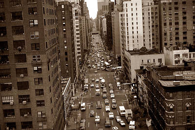 Photograph - Old New York Photo - 10th Avenue Traffic by Art America Gallery Peter Potter