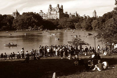 Photograph - Old New York Photo - Central Park Lake by Art America Gallery Peter Potter