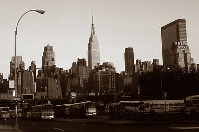 Photograph - Old New York Photo - Empire State Building And Midtown Skyline by Art America Gallery Peter Potter